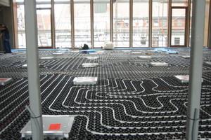 Verlegung der Fußbodenheizung<br />