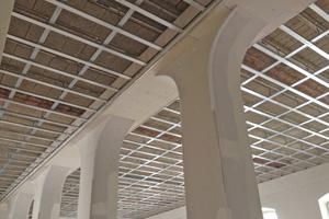 Sanierungsdecken und rekonstruierte Stützenverkleidungen