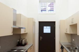 Die neue Küche, deren Außenwand ebenfalls mit Tec Tecm Insulation Board Indoor gedämmt wurde<br />