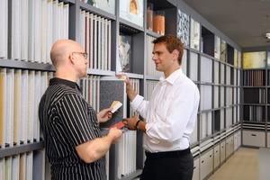 Die Sto-Infofabrik hält eine riesige Materialbibliothek bereit