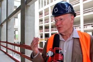Manfred Rettig im Interview auf der Schlossbaustelle