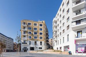 AllesWirdGut (in Arbeitsgemeinschaft mit Delta) stellte in der Seestadt Aspern 2015 ein Baufeld mit Wohn- und Geschäftsflächen von 23000 m² BGF fertig