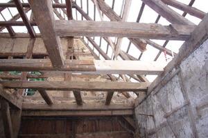 Reparatur an der Holzbalkendecke<br />
