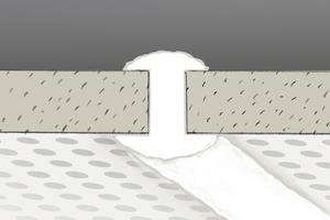 Beim Verfugen von Schnittkanten muss man darauf achten, dass die Fuge vollständig mit Spachtelmasse gefüllt wird