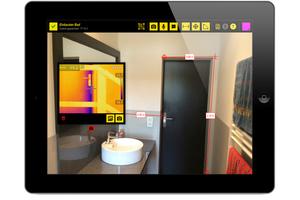 Aufmaße auf einem Foto und importierte Wärmebildkameramessung als Detailaufnahme<br />Foto: Mikavaa
