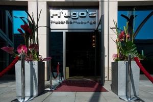 Eingang in H´ugo´s Restaurant Lounge und Bar in Stuttgart