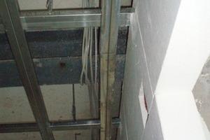 Die Decken wurden abgehängt und zuvor in die Innendämmung mit einbezogen<br />Foto: Böhm Trockenbau