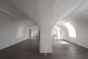 Schlichter Gewölberaum im Erdgeschoss