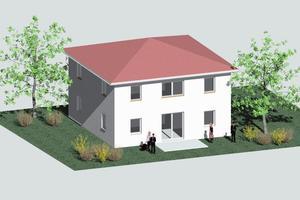 Zeichnung des ersten Lehrlingshauses<br />
