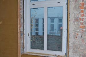 Montiertes Fenster von innen