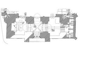 Grundriss Westwerk Erdgeschoss, Maßstab 1:200