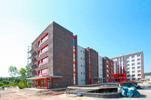 Das Studentenwohnheim auf dem Hengstenberg-Areal in Esslingen kurz vor Abschluss der BauarbeitenFotos: Knauf / Ralf Heikaus