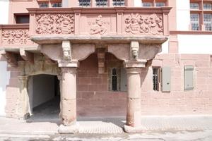 Balkongeländer auf der Südseite des Hilchenhauses (Schaufassade)<br />