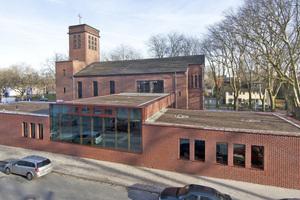 """Mehr Raum für kulturelle Aktivitäten gibt es jetzt im neuen Gemeindezentrum in Herne. <span class=""""bildnachweis"""">Foto: Daniel Sumesgutner</span>"""