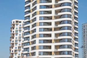 """Wohnturm """"Sternenhimmel"""" auf dem ehemaligen Siemensgelände im Münchner Süden mit 76 Wohnungen in 16 Geschossen"""