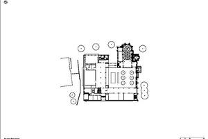 Grundriss Erdgeschoss, Maßstab 1:750