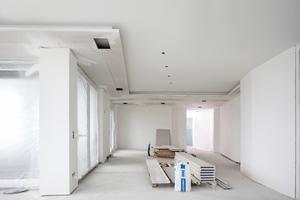 Sondereinbauten wie Deckenfelder oder Lichtvouten wurden aus Formteilen gefertigt