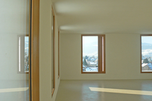 Alle Räume haben zwei Außenwände, so dass eine Querlüftung möglich ist