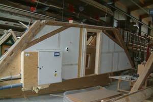 Aufbau in der Halle, Installation<br />