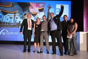 Glückliche Gewinner auf der 10. Saint-Gobain Gypsum International Trophy Anfang Juni in Prag: die Heinrich Schmid GmbH & Co. KG