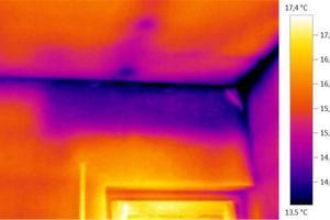 Wärmebild macht Dämmstoffsackung sichtbar