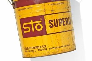 Rechts: 1962 entsteht die Marke Sto mit dem typischen gelben EimerFotos: Sto