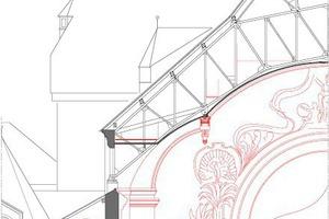 """Schnitt Großer Saal, Maßstab 1:250<span class=""""bildnachweis"""">Zeichnung: HPP Hentrich-Petschnigg &amp; Partner</span>"""