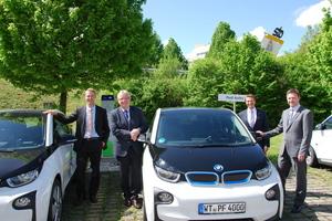 Nachhaltigkeit: ein Teil des Fuhrparks wurde auf Elektrofahrzeuge umgestellt