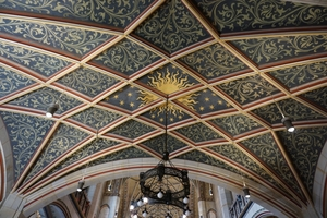 Deckenmalerei über dem Luther-Epitaph von der Seite aus gesehen