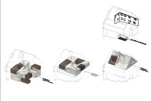 Wohnungen schematisch, ohne Maßstab
