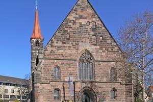 Die Sankt Jakobskirche wurde in Nürnberg vor etwa 950 Jahren mit Quadern aus Nürnberger Burgsandstein erbaut Foto: Andreas Praefcke