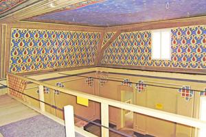 Blick in den ehemaligen Gebetssaal nach Abschluss der Restaurierungsarbeiten<br />Fotos: Constance Schröder