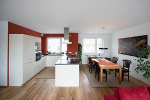 Blick in eine der Wohnen im Karlsruher Passivhaus