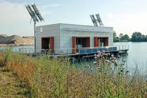 Das schwimmende Plus-Energiehaus produziert mehr Energie,  als es selbst verbraucht Foto: RWE