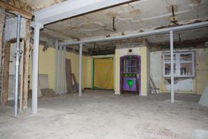 """Erdgeschoss der Gaststätte """"Zum Ross"""" ohne Mittelstütze"""