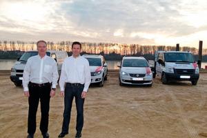 Bauunternehmer Andreas Kessler (54, links im Bild) übergibt seinen Betrieb nach und nach an den Bauingenieur Markus Gebauer (39, rechts im Bild)<br />Foto: Einer.Alles.Sauber.<br />