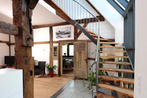 Blick zur Treppe im Erdgeschoss<br />