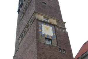 Das Wahrzeichen und Aushängeschild der Darmstädter Mathildenhöhe: der Hochzeitsturm<br />