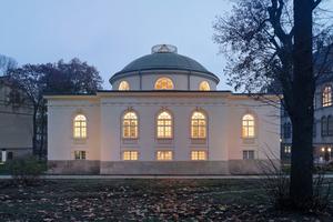 Mit der Fassadenrestaurierung erhielt das Ende des 18. Jahrhunderts von Carl Gotthard Langhans in Berlin erbaute Tieranatomische Theater sein ursprüngliches Erscheinungsbild zurück