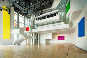 """Rechts: Der Weltmeistertitel ging in der Kategorie Trockenbau für die Louis Vuitton Foundation an die Isolation 2000 in Frankreich<span class=""""bildnachweis"""">Foto: Raphael Demaret</span>"""