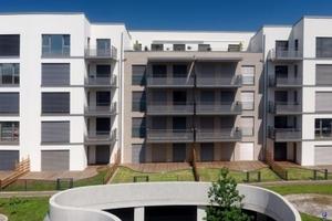 Ein Passivhaus mit 37 attraktiven Eigentumswohnungen wurde in Darmstadts Nordosten fertiggestellt<br />Fotos: BASF