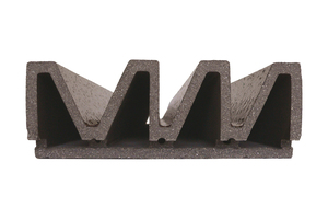 Eines der zum Bau der Keramikfassade verwendeten Elemente<br />