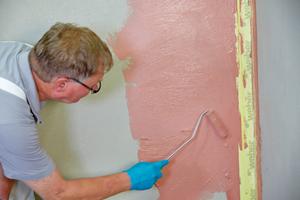Abdichtung mit Polymerdispersionen für Wandflächen in Bädern