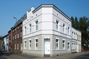 Für die neue Fassadenfassung diese Gründezeithauses in Neuss gab es in der Kategorie Historische Gebäude und Stilfassaden einen 3. Preis