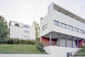 """Das Weissenhofmuseum (vorne) und das Haus Citrohan sind jetzt UNESCO-Weltkulturerbe<span class=""""bildnachweis"""">Foto: Landeshauptstadt Stuttgart </span>"""