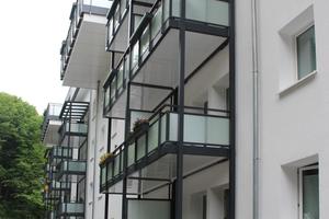 Wärmebrückenfrei: die vorgestellten Balkone