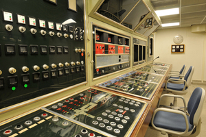 Komandozentrale im ehemaligen Atombunker