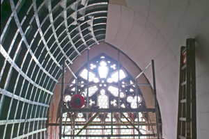 Die Trockenbaufachmonteure  bekamen das Gesamtbauteil der  Deckenkonstruktion in transportable Stücke zerlegt direkt auf die Baustelle geliefert Fotos: MJM Decken- und  Trennwandsysteme