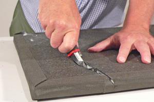 Die Platten können auch in Teilstücke geschnitten werden