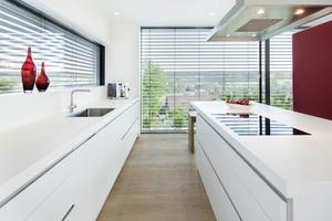 Die Küche im Obergeschoss<br />